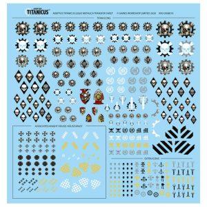 Games Workshop (Direct) Adeptus Titanicus  Decals Adeptus Titanicus: Legio Metalica Transfer Sheet - 99510308019 - 5011921137213