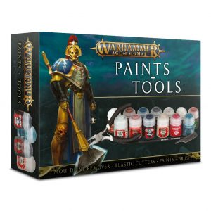 Games Workshop Age of Sigmar  Paint Sets Age of Sigmar: Paint & Tool Set - 99170299015 - 5011921095216
