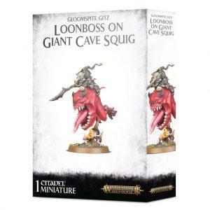Games Workshop Age of Sigmar  Gloomspite Gitz Gloomspite Gitz Loonboss on Giant Cave Squig - 99120209057 - 5011921116416