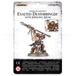 Games Workshop (Direct) Age of Sigmar  Blades of Khorne Exalted Deathbringer (Impaling Spear) - 99070201017 - 5011921070435