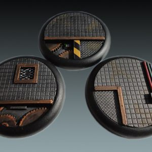 Baker Bases   Sci-fi Bases Sci-Fi: 50mm Round Bases (Lipped) (3) - CB-SF-03-50M - CB-SF-03-50M
