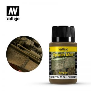 Vallejo   Weathering Effects Weathering Effects 40ml - European Splash Mud - VAL73801 - 8429551738019