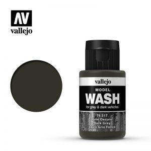 Vallejo   Vallejo Washes Dark Grey Wash - VAL76517 - 8429551765176
