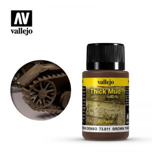 Vallejo   Weathering Effects Weathering Effects 40ml - Brown Thick Mud - VAL73811 - 8429551738118