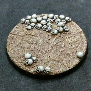 Baker Bases   Skulls Skull: 60mm Round Base (design A) - CB-SK-01-60M(a) - CB-SK-01-60a