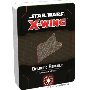 Fantasy Flight Games Star Wars: X-Wing  The Galactic Republic - X-wing Star Wars X-Wing: Galactic Republic Damage Deck - FFGSWZ77 - 841333110932