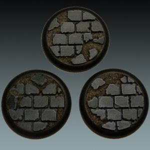 Baker Bases   Ruined Flagstones Flagstones: Wround 50mm (3) - CB-RF-03-50M - 5060439481356