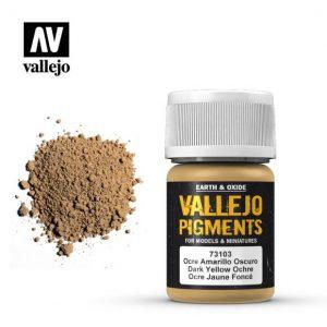 Vallejo   Pigments Vallejo Pigment - Dark Yellow Ocre - VAL73103 - 8429551731034
