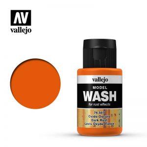 Vallejo   Vallejo Washes Dark Rust Wash - VAL76507 - 8429551765077
