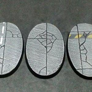 Baker Bases   Concrete Concrete: 75x46mm Oval Bases (3) - CB-CN-01-75(oval) - CB-CN-01-75(oval)
