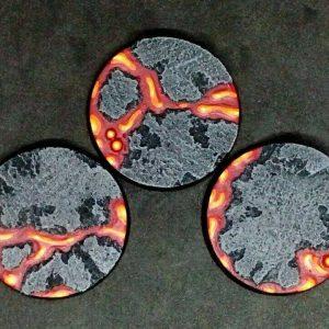 Baker Bases   Lava Lava: 50mm Round Bases (3) - CB-LV-01-50M - CB-LV-01-50M