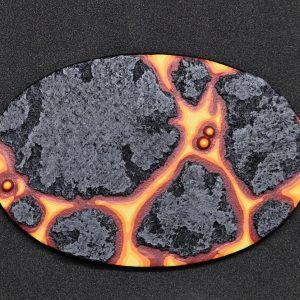 Baker Bases   Lava Lava Base 105x70mm Oval Base (1) - CB-LV-01-105 - CB-LV-01-105