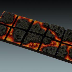 Baker Bases   Lava Lava: 20mm Square Bases (10) - CB-LV-02-20M - CB-LV-02-20M