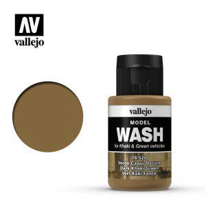 Vallejo   Vallejo Washes Dark Khaki Green Wash - VAL76520 - 8429551765206