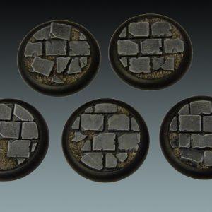 Baker Bases   Ruined Flagstones Flagstones: Wround 40mm (5) - CB-RF-03-40M - CB-RF-03-40M