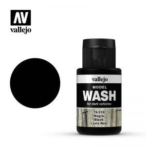 Vallejo   Vallejo Washes Black Wash - VAL76518 - 8429551765183