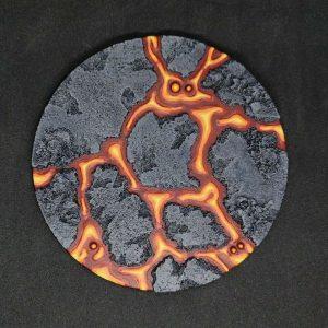Baker Bases   Lava Lava: 130mm Round Base (1) - CB-LV-01-130 - CB-LV-01-130