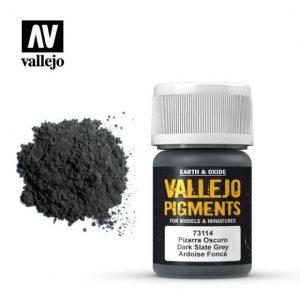 Vallejo   Pigments Vallejo Pigment - Dark Slate Grey - VAL73114 - 8429551731140