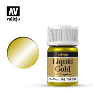 Vallejo   Liquid Gold Vallejo Liquid Old Gold - VAL792 - 8429551707923