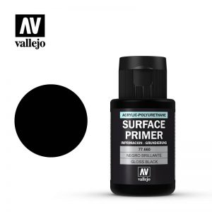 Vallejo   Metal Colour Primer: Gloss Black 32ml - VAL77660 - 8429551776608