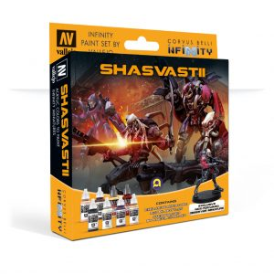 Vallejo   Combined Army Model Color Set: Shasvastii (+Exclusive Miniature) - CORVUS-70241 - 8429551702416