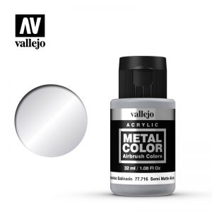 Vallejo   Metal Colour Metal Color - Semi Matt Aluminium 32ml - VAL77716 - 8429551777162