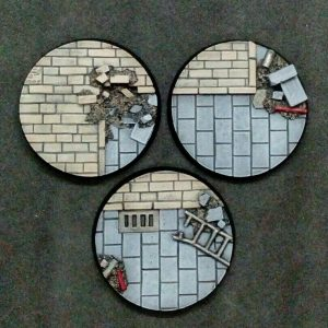 Baker Bases   Cityfight Cityfight: 50mm Round Bases (3) - CB-CF-01-50M - CB-CF-01-50M