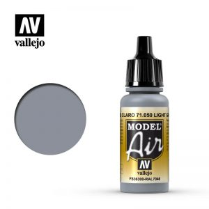 Vallejo   Model Air Model Air: Light Grey - VAL050 - 8429551710503