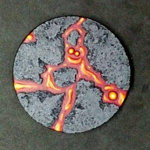 Baker Bases   Lava Lava: 80mm Round Base (1) - CB-LV-01-80M - CB-LV-01-80M