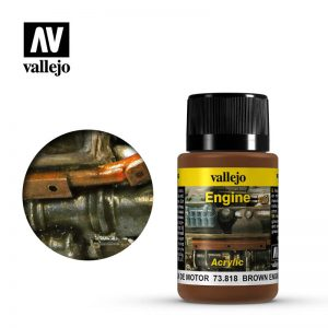Vallejo   Weathering Effects Weathering Effects 40ml - Brown Engine Soot - VAL73818 - 8429551738187