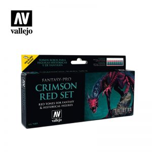 Vallejo   Fantasy Pro Fantasy Pro - Crimson Red Set (x8) - VAL74103 - 8429551741033