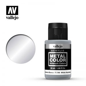 Vallejo   Metal Colour Metal Color - White Aluminium 32ml - VAL77706 - 8429551777063