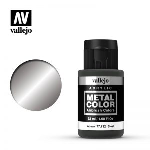 Vallejo   Metal Colour Metal Color - Steel 32ml - VAL77712 - 8429551777124