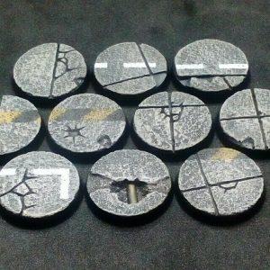 Baker Bases   Concrete Concrete: 25mm Round Bases (10) - CB-CN-01-25M - CB-CN-01-25M