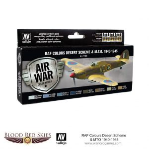 Vallejo Blood Red Skies  Paint Sets RAF Colors Desert Scheme & MTO 1940-1945 - VAL71163 - 8429551711630