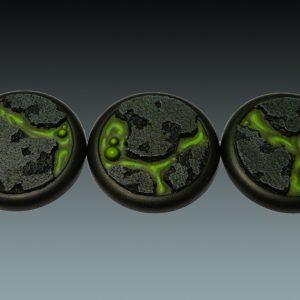Baker Bases   Lava Lava: 50mm Round Bases (Lipped) (3) - CB-LV-03-50M - 5060439481110
