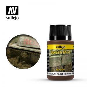 Vallejo   Weathering Effects Weathering Effects 40ml - Brown Splash Mud - VAL73805 - 8429551738057