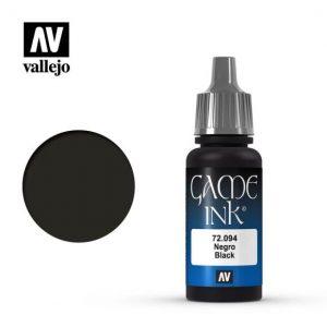Vallejo   Game Colour Game Ink: Black - VAL72094 - 8429551720946