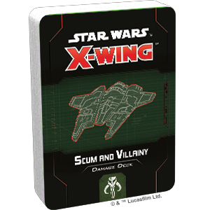 Fantasy Flight Games Star Wars: X-Wing  Scum & Villainy - X-wing Star Wars X-Wing: Scum and Villainy Damage Deck - FFGSWZ74 - 841333110901