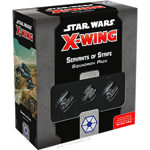 Fantasy Flight Games Star Wars: X-Wing  Separatist Alliance - X-wing Star Wars X-Wing: Servants of Strife Squadron Pack - FFGSWZ29 - 841333107253