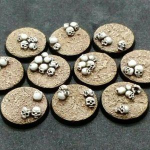 Baker Bases   Skulls Skull: 25mm Round Bases (10) - CB-SK-01-25M - CB-SK-01-25M