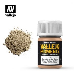 Vallejo   Pigments Pigment- Light Yellow Ocre - VAL73102 - 8429551731027