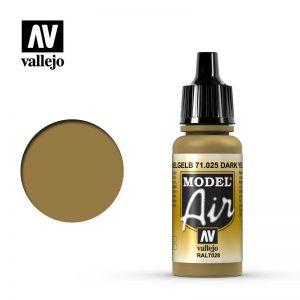 Vallejo   Model Air Model Air: Dark Yellow - VAL025 - 8429551710251