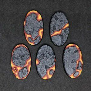 Baker Bases   Lava Lava: 60x35mm Oval Bases (5) - CB-LV-01-60v - CB-LV-01-60v