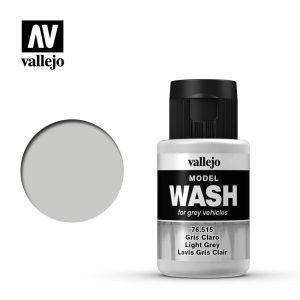 Vallejo   Vallejo Washes Light Grey Wash - VAL76515 - 8429551765152