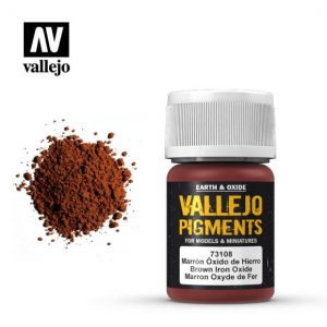 Vallejo   Pigments Vallejo Pigment - Brown Iron Oxide - VAL73108 - 8429551731089