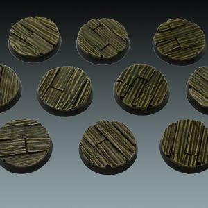 Baker Bases   Plank / Decking Plank: 25mm Round Bases (10) - CB-PL-01-25M - CB-PL-01-25M