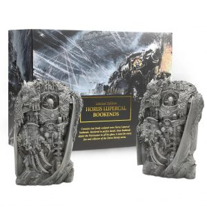 Games Workshop   Warhammer 40000 Books Black Library Horus Lupercal Bookends - 99709981018 - 9781800260566
