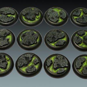 Baker Bases   Lava Lava: 30mm Round Bases (Lipped) (12) - CB-LV-03-30M - CB-LV-03-30M