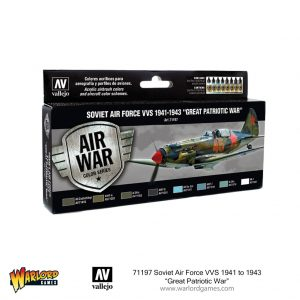 Vallejo Blood Red Skies  Paint Sets Soviet Air Force VVS 1941 to 1943 Great Patriotic War - VAL71197 - 8429551711975